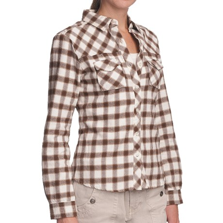 Gramicci Iguazu Nadia Flannel Shirt - Long Sleeve (For Women) in Fawn