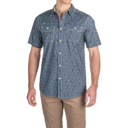 Gramicci Indi-Chambray Print Shirt - Short Sleeve (For Men) in Indigo - Closeouts