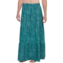 Gramicci Isabella Batik Maxi Skirt (For Women) in Turquise Stone - Closeouts