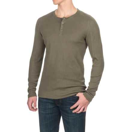 Gramicci Jak Waffle Henley Shirt - Stretch Cotton, Long Sleeve (For Men) in Olive Stone - Closeouts