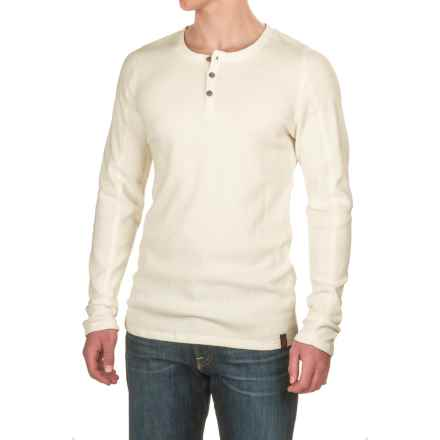 Gramicci Jak Waffle Henley Shirt - Stretch Cotton, Long Sleeve (For Men) in White - Closeouts