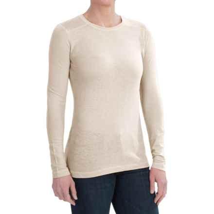 Gramicci Jenni T-Shirt - UPF 50, Hemp-Organic Cotton, Long Sleeve (For Women) in Bone White - Closeouts
