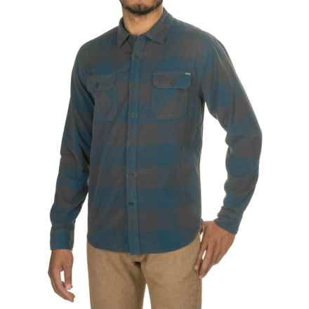 Gramicci Knock On My Door Check Corduroy Shirt - Organic Cotton, Long Sleeve (For Men) in Coastal Blue - Closeouts
