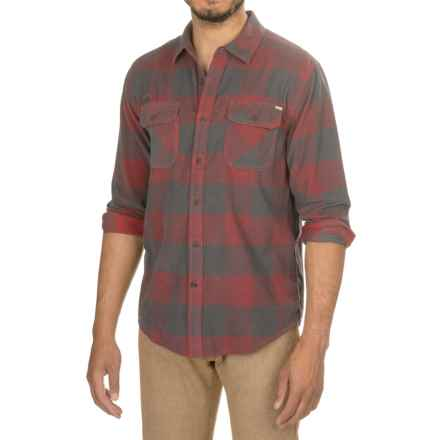 Gramicci Knock On My Door Check Corduroy Shirt - Organic Cotton, Long Sleeve (For Men) in Fire Cracker - Closeouts