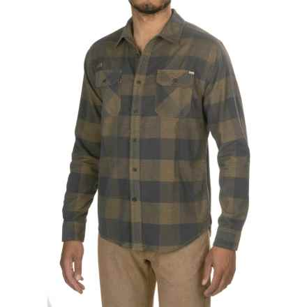Gramicci Knock On My Door Check Corduroy Shirt - Organic Cotton, Long Sleeve (For Men) in Green Moss - Closeouts