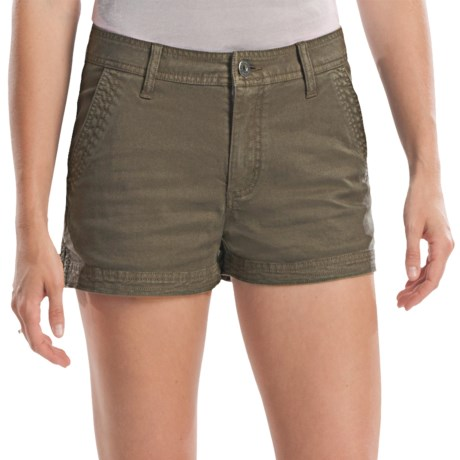 Gramicci Kona Diamond Stretch Twill Shorts (For Women) in Bungee Cord