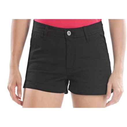 Gramicci Kona Diamond Stretch Twill Shorts (For Women) in Jet Black - Closeouts