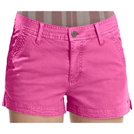 Gramicci Kona Diamond Stretch Twill Shorts (For Women) in Raspberry Rose