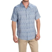 Gramicci Ladder Shirt - Slim Fit, Short Sleeve (For Men) in Indigo Blue - Closeouts
