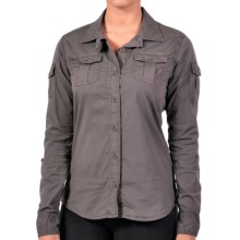 Gramicci Laurel Savanna Poplin Shirt - Long Sleeve (For Women) in Carbon Grey - Closeouts