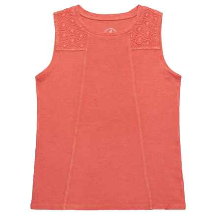 Gramicci Lily Shirt - Organic Cotton, Scoop Neck, Sleeveless (For Girls) in Sugar Coral - Closeouts