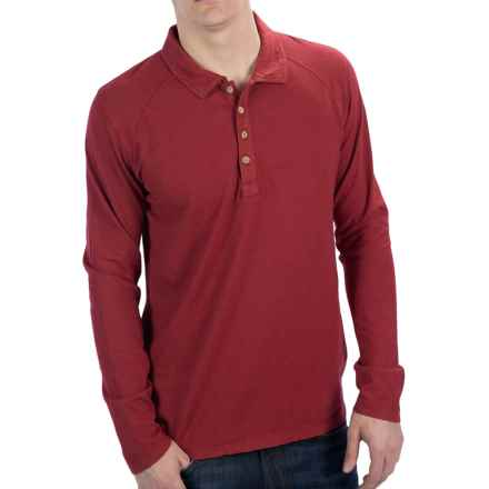 Gramicci Lodge Organic Polo Shirt - UPF 20, Long Sleeve (For Men) in India Red - Closeouts