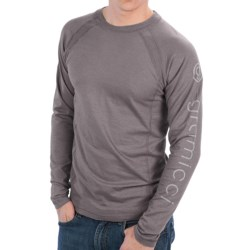 Gramicci Logo Burnham Shirt - UPF 30, Hemp-Organic Cotton, Long Sleeve (For Men) in Sea Port Blue