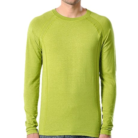 Gramicci Logo Burnham Shirt - UPF 30, Hemp-Organic Cotton, Long Sleeve (For Men) in Green Flash