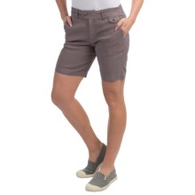 Gramicci Lotti Shorts - Linen-Cotton (For Women) in Mink Brown - Closeouts