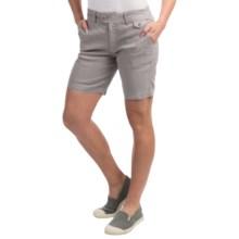 Gramicci Lotti Shorts - Linen-Cotton (For Women) in Seafoam Grey - Closeouts