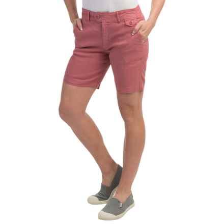 Gramicci Lotti Shorts - Linen-Cotton (For Women) in Teak Brown - Closeouts