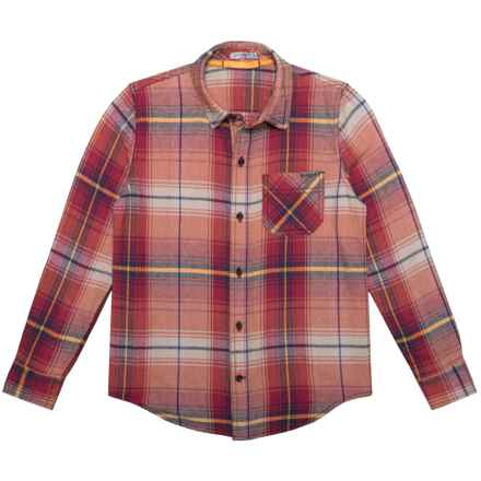 Gramicci Lumberjack Shirt - Long Sleeve (For Little and Big Boys) in Caramel Tan - Closeouts