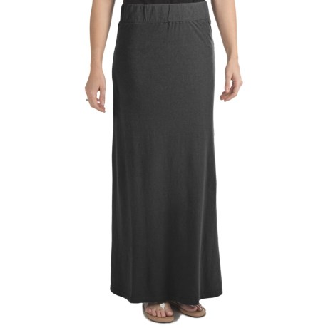 Gramicci Malaysia Camura Skirt - Hemp-Cotton Jersey, UPF 20 (For Women) in Moonless Night