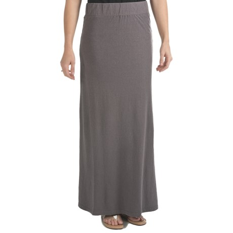 Gramicci Malaysia Camura Skirt - Hemp-Cotton Jersey, UPF 20 (For Women) in Rabbit