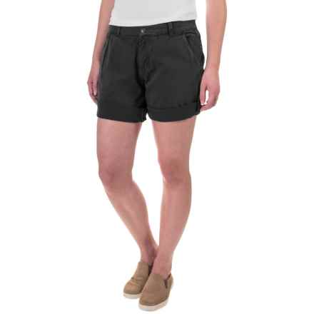 Gramicci Malibu Cuffed Shorts - Cotton (For Women) in Black - Closeouts