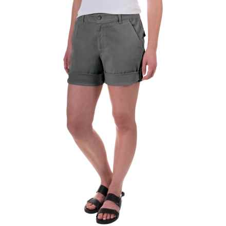 Gramicci Malibu Cuffed Shorts - Cotton (For Women) in Dark Shadow Grey - Closeouts