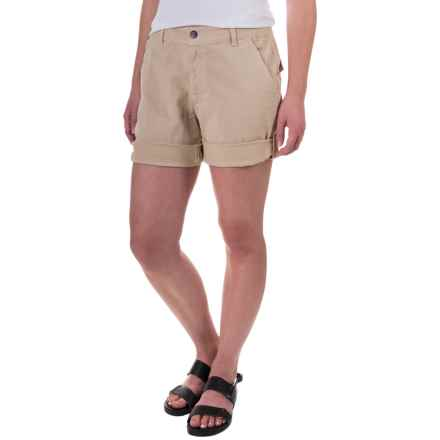 Gramicci Malibu Cuffed Shorts - Cotton (For Women) in Sand - Closeouts