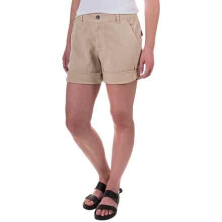 Gramicci Malibu Cuffed Shorts - Cotton (For Women) in Sand - Closeouts