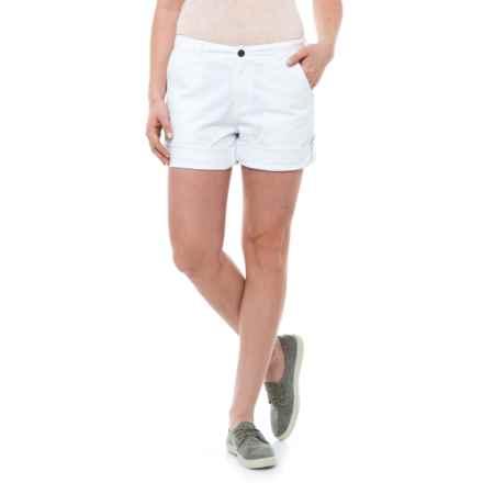 Gramicci Malibu Cuffed Shorts - Cotton (For Women) in White - Closeouts