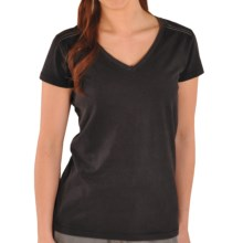 Gramicci Marea T-Shirt - V-Neck, Short Sleeve (For Women) in Black - Closeouts