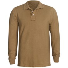 Gramicci Merit Polo Shirt - UPF 20, Hemp-Organic Cotton, Long Sleeve (For Men) in Ringtail Brown - Closeouts