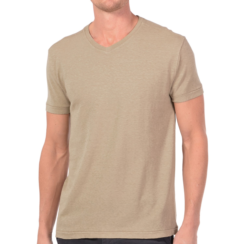 Gramicci morrison v neck t shirt upf 20 hemp organic for Mens hemp t shirts
