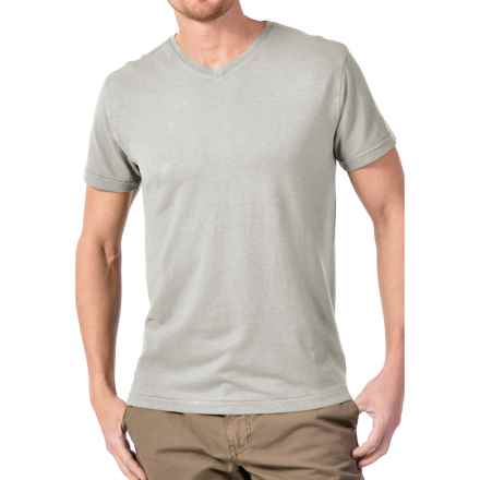 Gramicci Morrison V-Neck T-Shirt - UPF 20, Hemp-Organic Cotton, Short Sleeve (For Men) in Cloudy Grey - Closeouts