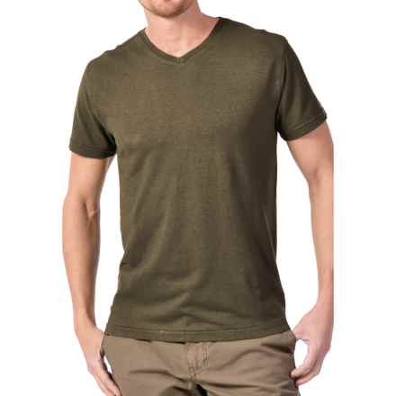 Gramicci Morrison V-Neck T-Shirt - UPF 20, Hemp-Organic Cotton, Short Sleeve (For Men) in Dusty Olive - Closeouts