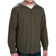 Gramicci Murphy Hooded Flannel Shirt Jacket - Long Sleeve (For Men) in Flannel Grey - Closeouts