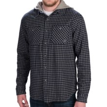 Gramicci Murphy Hooded Flannel Shirt Jacket - Long Sleeve (For Men) in New Navy - Closeouts