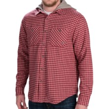 Gramicci Murphy Hooded Flannel Shirt Jacket - Long Sleeve (For Men) in Ox Red - Closeouts