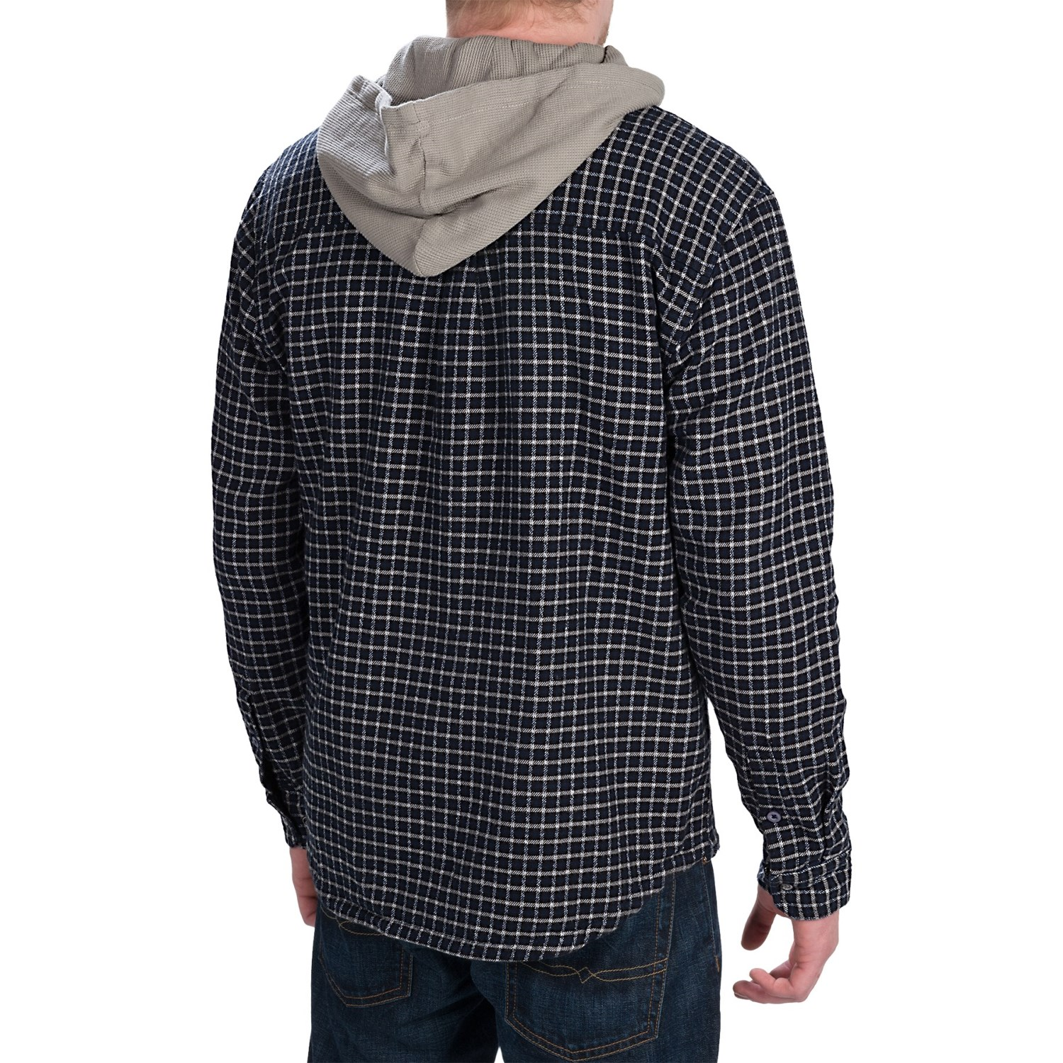 Gramicci murphy hooded flannel shirt jacket for men for Men s hooded flannel shirt jacket
