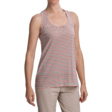 Gramicci Nia Naira Jersey Drapy Tank Top - Racerback (For Women) in Cockatoo - Closeouts