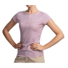 Gramicci Nikko Naira Jersey Easy Fit Henley Shirt - Short Sleeve (For Women) in Keepsake Lilac - Closeouts