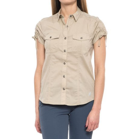 Gramicci No-Squito Shirt - UPF 40+, Short Sleeve (For Women) in Khaki