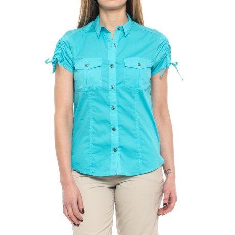 Gramicci No-Squito Shirt - UPF 40+, Short Sleeve (For Women) in River Blue