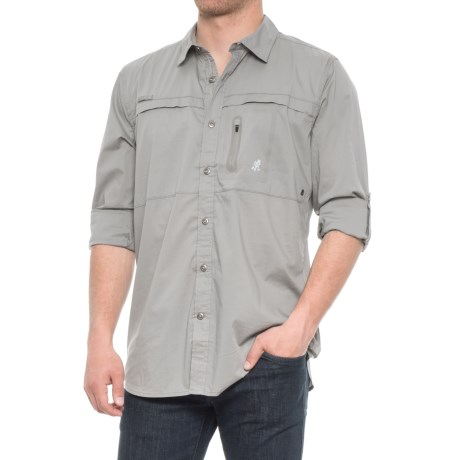 Gramicci NO-Squito Shirt - UPF 40, Roll-Up Long Sleeve (For Men) in Fog Grey