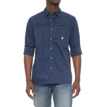 Gramicci NO-Squito Shirt - UPF 40, Roll-Up Long Sleeve (For Men) in Pacific Navy - Closeouts