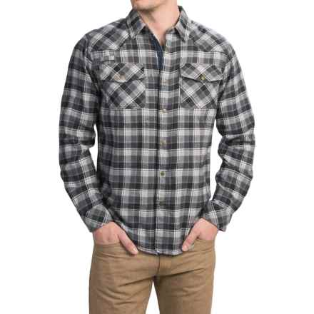 Gramicci Off Trail Plaid Shirt - Classic Fit, Snap Front, Long Sleeve (For Men) in Black - Closeouts