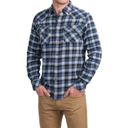 Gramicci Off Trail Plaid Shirt - Classic Fit, Snap Front, Long Sleeve (For Men) in Navy - Closeouts