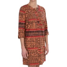 Gramicci Olimpia Kaftan Dress - Notch Neck, 3/4 Sleeve (For Women) in Paprika - Closeouts