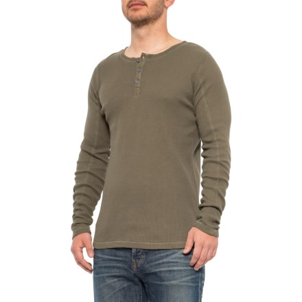b3eef5b7 Gramicci Olive Stone Jak Henley Shirt - Long Sleeve (For Men) in Olive Stone