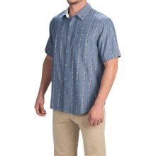 Gramicci Ombre Riverbend Chambray Shirt - Short Sleeve (For Men) in Indigo Blue - Closeouts
