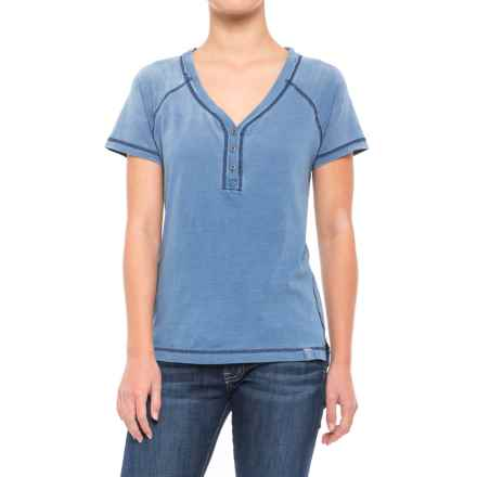 Gramicci On the Go Henley Shirt - Short Sleeve (For Women) in Vintage - Closeouts